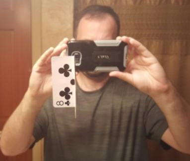 vision center mirror test with card