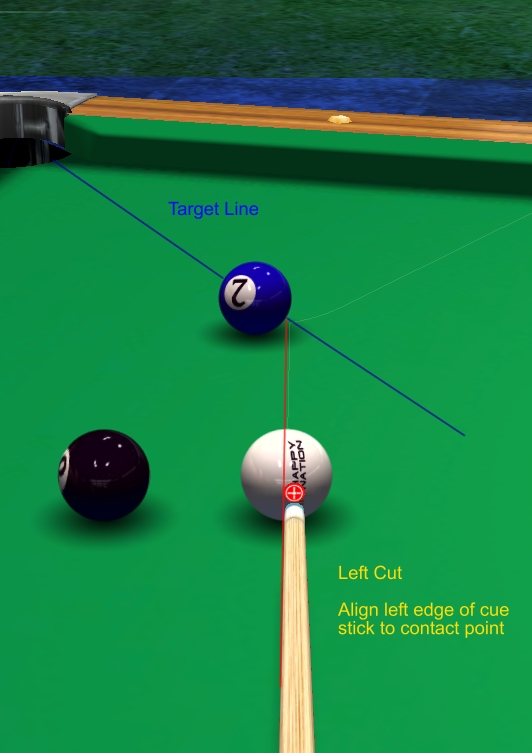 Shaft-Edge or Ferrule Aiming System - Billiards and Pool