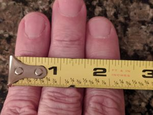tangent line fingers measurement