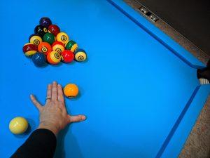 tangent-line fingers break shot example